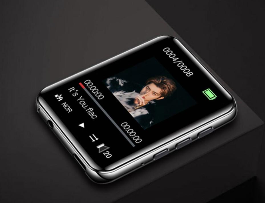 MP3 Плеер RuiZu A02 4Gb Bluetooth HI-FI Original с внешним динамиком Серебро сенсорный