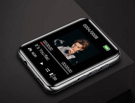 MP3 Плеер RuiZu A02 4Gb Bluetooth HI-FI Original с внешним динамиком Серебро сенсорный, фото 2