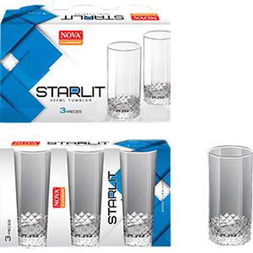 Набір склянок 300мл 3шт Starlit високий