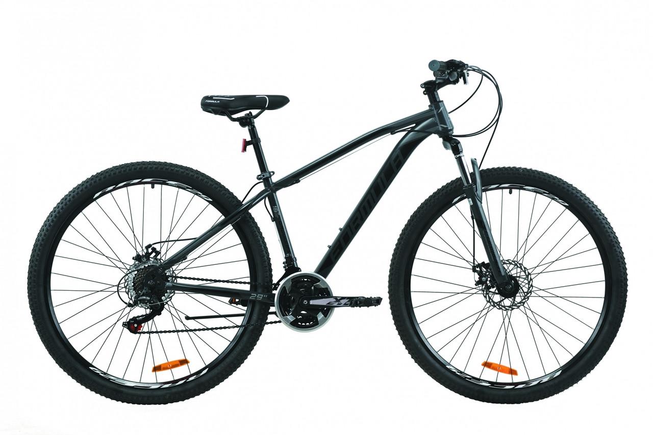 """Велосипед 29"""" Formula DRAGONFLY 2020 (серый с черным (м))"""