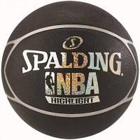 Мяч баскетбольный Spalding NBA Highlight Black/Silver Size 7