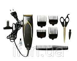 Професійна машинка - триммер для стрижки волосся Gemei GM-809 з насадками