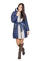 Зимняя куртка женская Алена (синий/светло-серый), фото 1