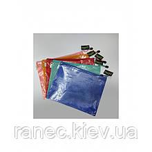 Папка для документов на молнии красная Полимер Kalche  440101 В5