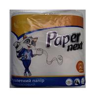"Туалетная бумага белая ""Paper Next"" 2 слоя (4шт.) 12 уп. \ Ок.100% целлюлоза"