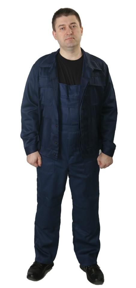 Полукомбинезон с курткой рабочий ОТ летний ECONOM темно-синий