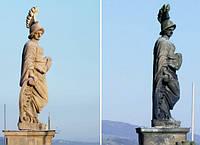 Реставрация монумента из натурального камня