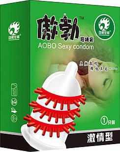 Презервативы с усиками и шипами для дополнительной стимуляции влагалища AOBO Sexy condom (Код 302/1) 13863
