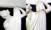 Реставрация элемента мраморной скульптуры