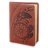 Эксклюзивная обложка для паспорта из винтажной кожи SHVIGEL 13792 Красная
