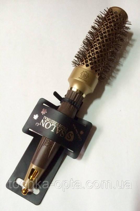 Брашинг для волос керамический SALON ion Gold 35