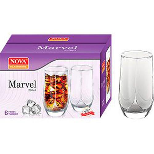 Набір склянок 6шт 280мл MARVEL