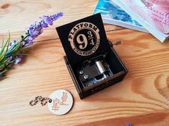 Музыкальная шкатулка шарманка из фильма Гарри Поттер Harry Potter черная
