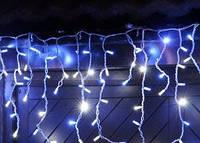 """Гирлянда светодиодная """"Висюлька""""108 ламп (LED) прозрачный (белый) провод, цвета в ассортименте"""