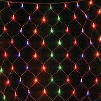 """Гирлянда светодиодная """"Сетка"""" 200 ламп (LED) белый провод, цвета в ассортименте"""