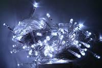 Гирлянда светодиодная 200ламп (LED) прозрачный (белый) провод, цвета в ассортименте