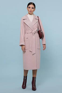 Демісезонне пальто пудровое