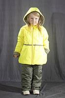 Демисезонный комбинезон для девочки на флисе Желтый