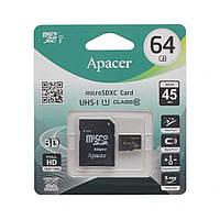 Карта Памяти Apacer MicroSDXC 64gb 10 Class & Adapter