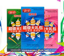 Екстрачутливи презервативы с шипами и усиками Extra Sensitive (упаковка 6шт, синий) 6934439715867с