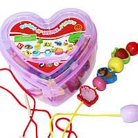 Деревянная игрушка Шнуровка фрукты-животные в чемодане, развивающие товары для детей.