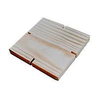 Декоративные деревянные крышки для банок HomeDeco 120х120х7