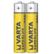 Батарейка VARTA SUPERLIFE R-3 AAA FOL (технический) 2шт. / Уп. 60шт / уп.