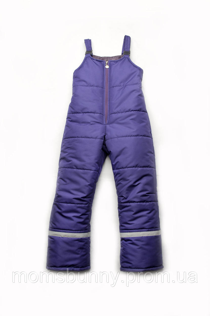 Детский зимний полукомбинезон Модный карапуз (фиолетовый)