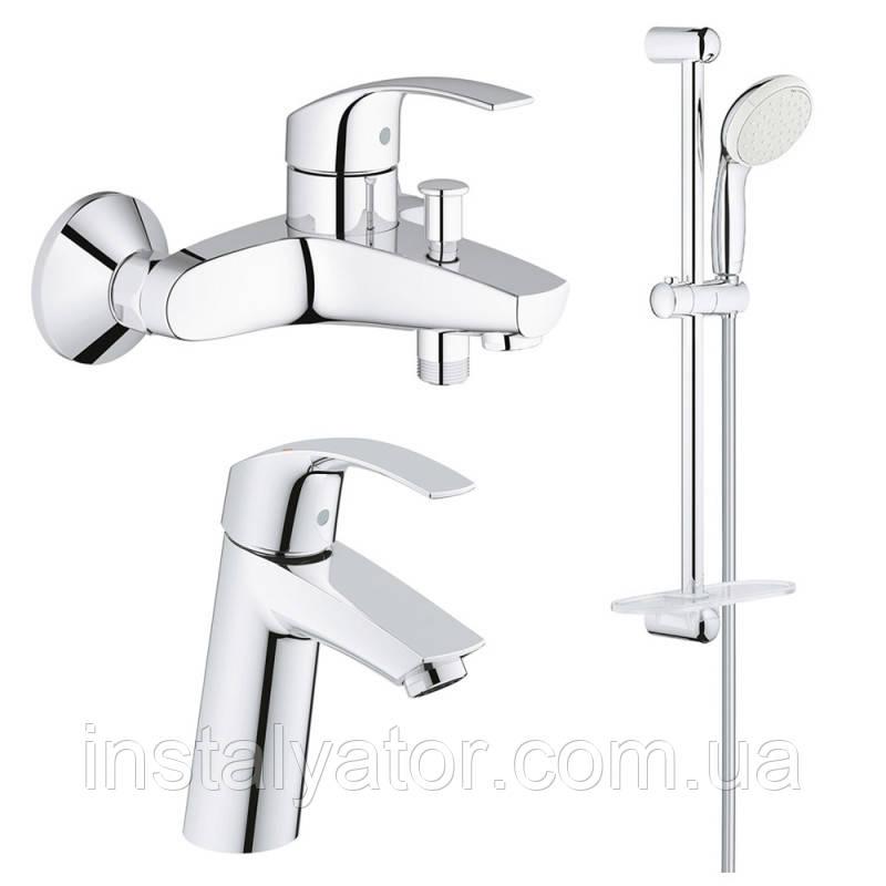 Grohe Eurosmart 123246M набор смесителей для ванной M-Size