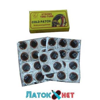 Набор камерных латок круглые диаметр 20 мм 100 штук Srong Tire-Tube Gold Patch