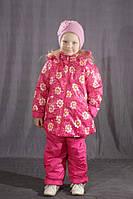 """Детский комбинезон для девочки цветной """"Розовый снежинки"""""""