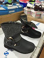 Детские утепленные ботинки для девочек Размеры 27-32