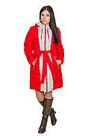 Зимняя куртка женская Алена (коралл/св. серый)