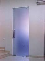 Маятниковая матовая стеклянная дверь