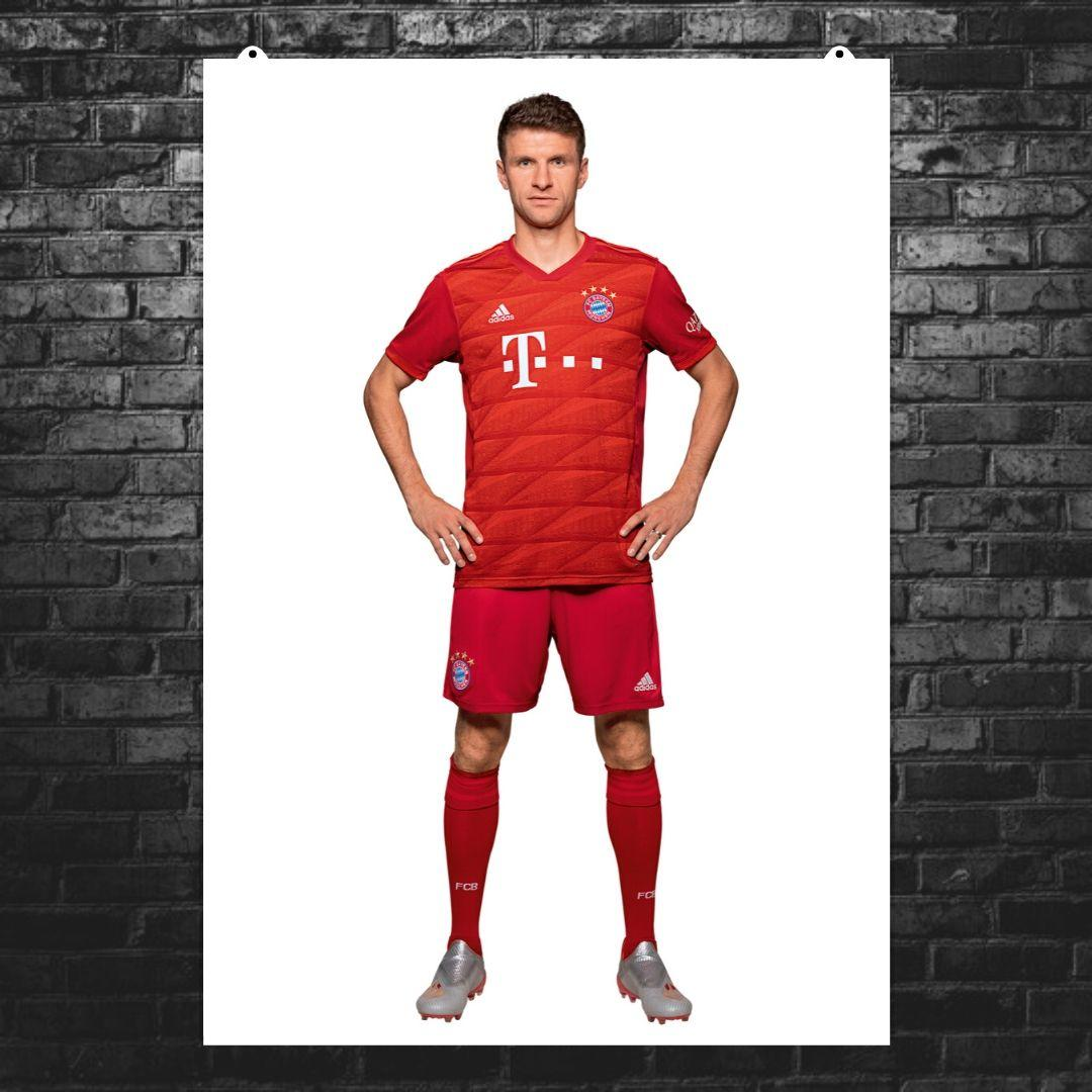 "Постер ""Футболист Томас Мюллер"". Thomas Muller, вариант №1. Размер 60x43см (A2). Глянцевая бумага"