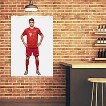 "Постер ""Футболист Томас Мюллер"". Thomas Muller, вариант №1. Размер 60x43см (A2). Глянцевая бумага, фото 2"