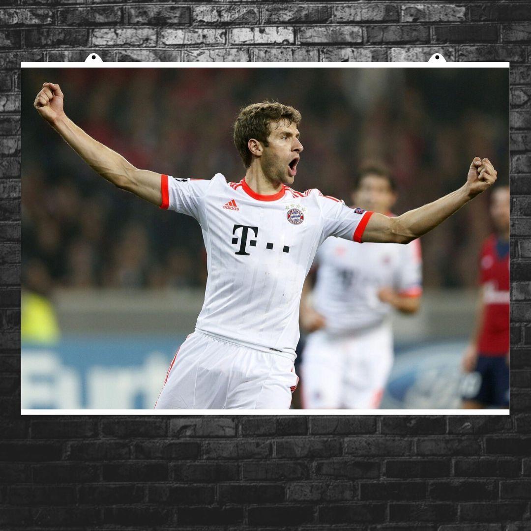 "Постер ""Футболист Томас Мюллер"". Thomas Muller, вариант №3. Размер 60x43см (A2). Глянцевая бумага"