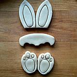 Вырубка пасхальный кролик, комплект вырубки из 3 частей, фото 2