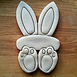 Вырубка пасхальный кролик, комплект вырубки из 3 частей, фото 3