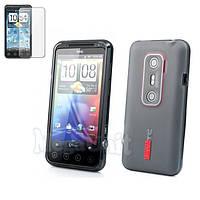 Capdase. HTC Evo 3D (x515m/G17). Силиконовый чехол (+пленка), фото 1