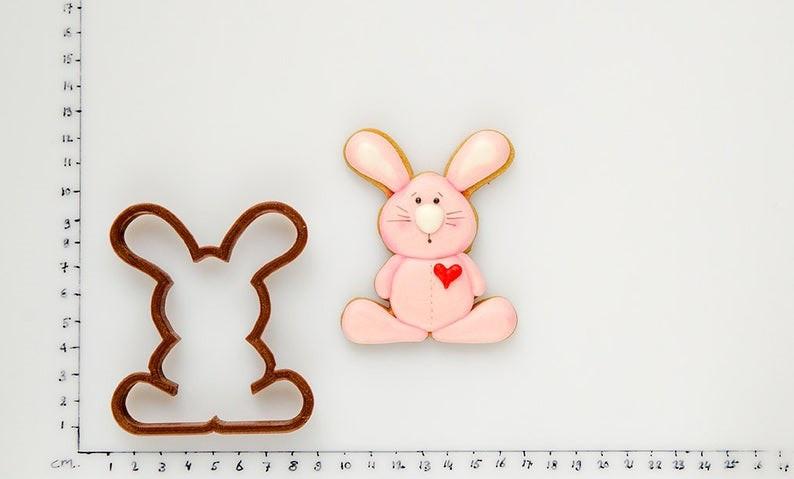 3Д вырубка пасхальный кролик с сердечком