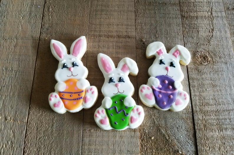 Комлект вырубки кроликов 3шт, каттеры пасхальные кролкики