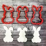 Комлект вырубки кроликов 3шт, каттеры пасхальные кролкики, фото 3