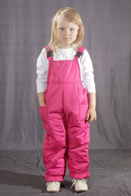 Детский демисезонный полукомбинезон Розовый