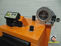 Автоматика на котлах ДТМ. Блок управления и турбина принудительного надува воздуха. Все модели котлов ДТМ комплектуются блоком управления и турбиной.