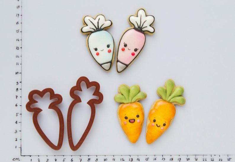 Пасхальные 3Д Формочки - Морковь 2шт, Вырубка морковка из пластика