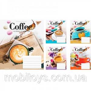 Тетрадь на 48 листов в линейку YES Coffee