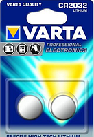 Батарейка VARTA CR 2032 BLI 2шт. / Блистер LITHIUM