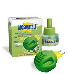 """Электрофумигаторы """"Москитол"""" + жидкость от комаров """"Универсальная защита"""" 30 мл (45 ночей) код 672"""