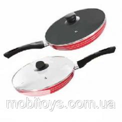 """Сковорода с крышкой """"STENSON"""" антипригарное покрытие (D = 22 см.) МН-0623"""